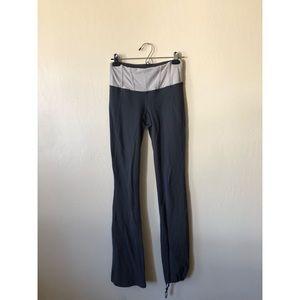 LULULEMON dark grey wide band yoga pants